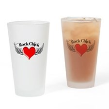 Rock Chick Drinking Glass