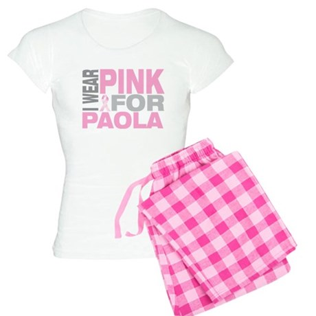 I wear pink for Paola Women's Light Pajamas