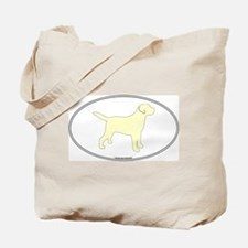 Yellow Lab Outline Tote Bag