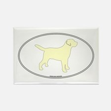 Yellow Lab Outline Rectangle Magnet