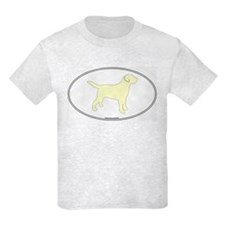Yellow Lab Outline Kids T-Shirt