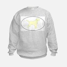 Yellow Lab Outline Sweatshirt