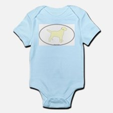 Yellow Lab Outline Infant Creeper