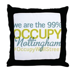 Occupy Nottingham Throw Pillow