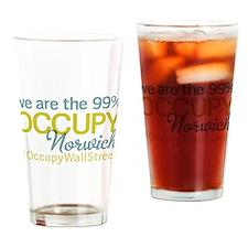 Occupy Norwich Drinking Glass