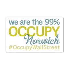 Occupy Norwich Car Magnet 20 x 12