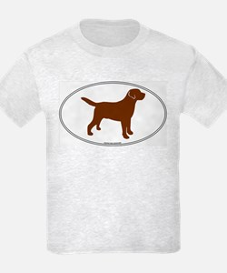 Chocolate Lab Outline Kids T-Shirt