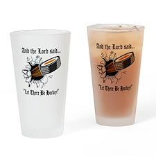 Funny Hockey Drinking Glass