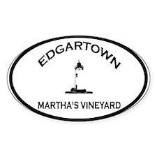 Edgartown MA - Oval Design. Decal