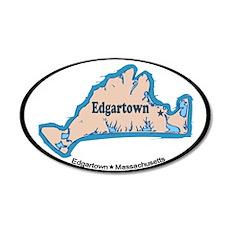 Edgartown MA - Oval Design. 22x14 Oval Wall Peel