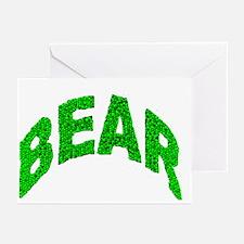BEAR GREEN MOSAIC TEXT Greeting Cards (10pk