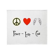 Peace - Love - Cas Throw Blanket