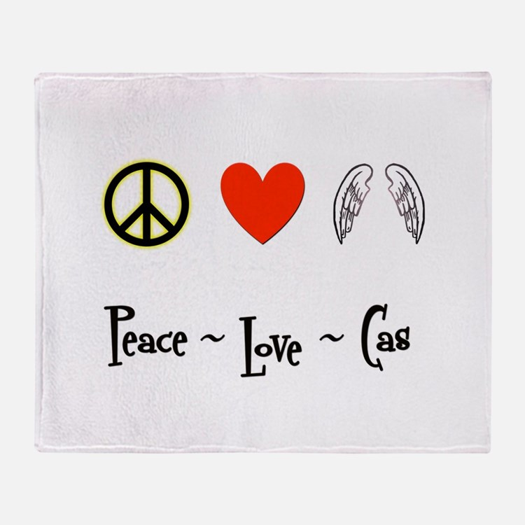 Peace - Love - Cas Throw Blanket