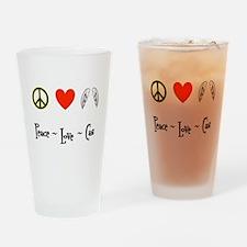 Peace - Love - Cas Drinking Glass