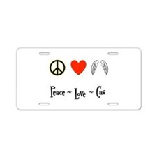 Peace - Love - Cas Aluminum License Plate