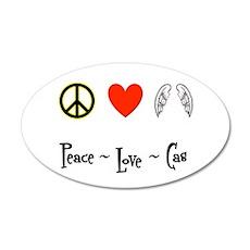 Peace - Love - Cas 22x14 Oval Wall Peel