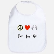 Peace - Love - Cas Bib