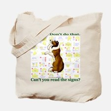 Can't You Read: Sheltie Tote Bag