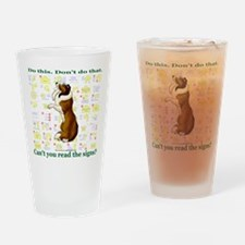 Can't You Read: Sheltie Drinking Glass