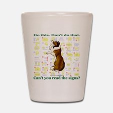 Can't You Read: Sheltie Shot Glass