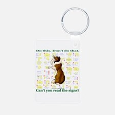 Can't You Read: Sheltie Keychains