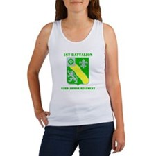 DUI - 1st Bn - 63rd Armor Regt with Text Women's T