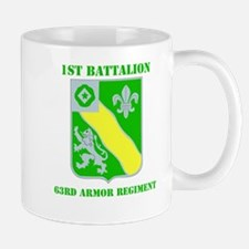 DUI - 1st Bn - 63rd Armor Regt with Text Mug