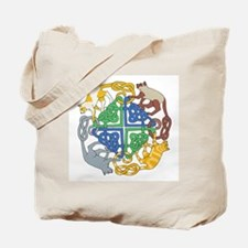 Four Cat Knot Tote Bag