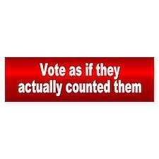 vote... Bumper Bumper Sticker