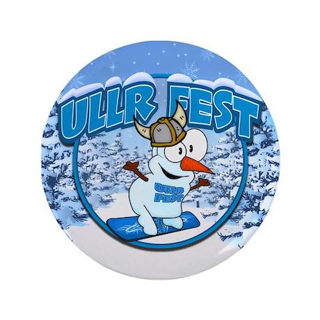 """UllrFest Snowboarder 3.5"""" Button"""