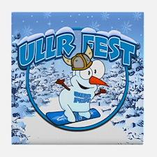 UllrFest Snowboarder Tile Coaster