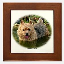 Norwich Terrier 9Y235D-087 Framed Tile