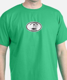 Edgartown MA - Oval Design. T-Shirt