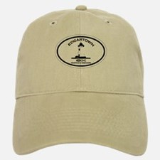 Edgartown MA - Oval Design. Baseball Baseball Cap