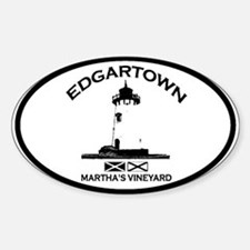 Edgartown MA - Oval Design. Decal