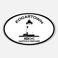 Edgartown MA - Oval Design. Sticker (Oval)