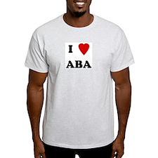 I Love Aba Ash Grey T-Shirt