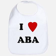 I Love Aba Bib