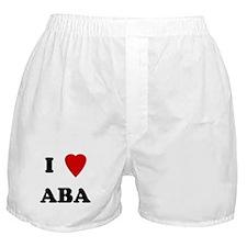 I Love Aba Boxer Shorts