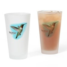 Ruby-Throated Hummingbird Drinking Glass