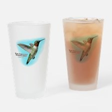 Ruby-Throated Hummingbird Drinking Glass