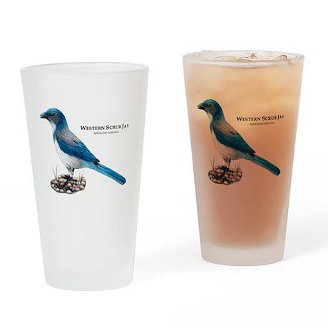 Western Scrub Jay Drinking Glass