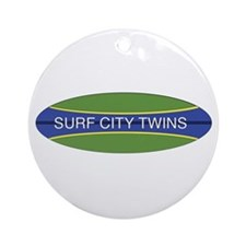 Surf City Twins Ornament (Round)