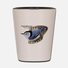 White-Breasted Nuthatch Shot Glass
