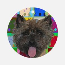 Cairn Terrier Ornament (Round)