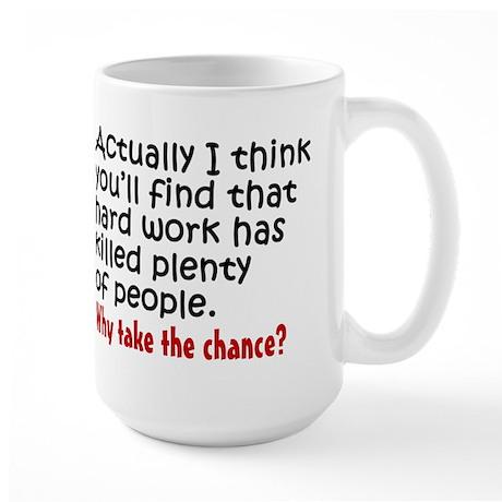 'Lazy' Large Mug
