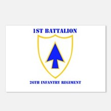 DUI - 1st Bn - 26th Infantry Regt with Text Postca