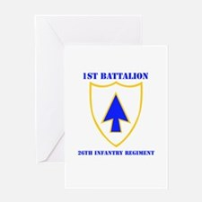 DUI - 1st Bn - 26th Infantry Regt with Text Greeti