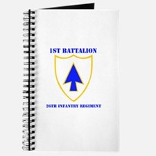 DUI - 1st Bn - 26th Infantry Regt with Text Journa