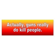 guns kill... Bumper Car Sticker